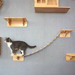 JSJJAUA Arbre à Chat Échelle de Chat Marches Matériel d'escalier d'escalier d'escalier d'escalier d'escalier de Chat de Chat Chat Bricolage Chat Chat d'escalade Plate-Forme d'habitat Chat