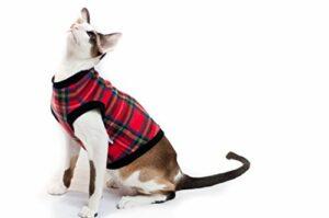 Kotomoda Cat Pull Plaid Rouge