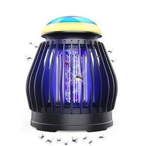 LIPETLI Lampe Anti Moustique Electronique UV LED Efficace RéPulsif Moustique Tueur Etanche PièGes à Insectes 3 Elairage Chargé par USB 2 en 1 Lanterne Camping IntéRieur ExtéRieur