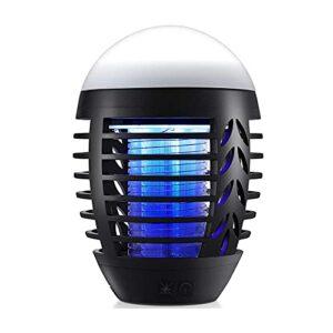 LIPETLI Lampe de moustiquaire électrique Lampe d'insecte imperméable à l'insecte Piège à Mouches pour Ordinateur arrière-Plan d'intérieur Patio Camping avec Crochet et Suspendu, IP66 imperméable