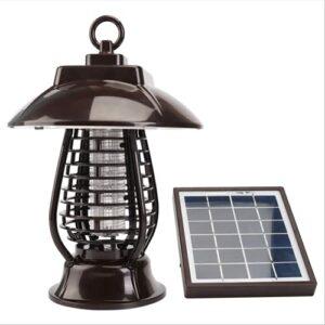 LIPETLI Lampe D'ExtéRieur à LED pour Insecticide Solaire, Lampe de Jardin Solaire à Double Fonction, Lampe Anti-Moustique Anti-Insectes pour Jardin, Patio, Pelouse
