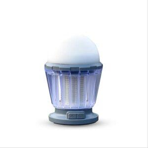 LIPETLI Tueur de Moustiques Rechargeable Solaire,Lampe Anti Moustique LED 3 Modes de Luminosité avec Crochet Portable,Lampe de Camping Convient au Tente,au Cour, au Maison, au Cuisine, au Bureaux.