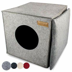 Panier pour chat KaraLuna en feutre de qualité supérieure – Compatible avec IKEA Kallax ou Expedit I