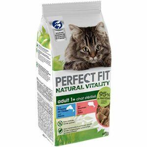 Perfect Fit Natural Vitality Sachets fraîcheur pour chat adulte, au Saumon et poissons des océans en sauce, 72 sachets repas de 50g (72 x 50g)