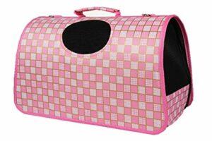 Portable Rose clair robuste chat Voyage Transporteur pour petit chien pliable Pet transporteur Transporteur