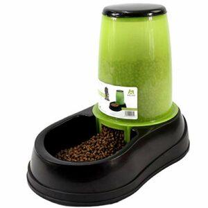 Raxinbang mangeoires Approvisionnement Mobile en Plastique de régime de Chat de conducteur Vert en Plastique d'alimentation Automatique d'alimentation de Grande capacité 1.5L translucide