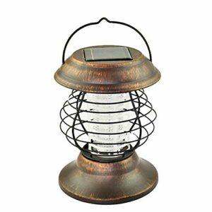 Ruankenshop d'or Anti-Moustique Lampe LED Solaire Lampe Anti Insecte UV Lampe Lampe Anti-Moustique Jardin Interieur Tente Cuisine Camping Meuble Cuisine Exterieur