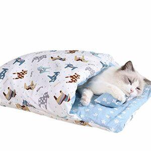 Sac de couchage chaud pour chat amovible pour l'hiver