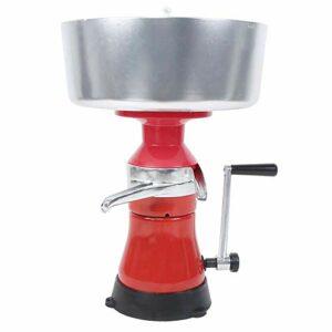 Séparateur de crème de lait, machine de séparation manuelle de ménage d'alliage d'aluminium, machine de beurre de séparateur de fromage de lait petit séparateur de disque pour l'
