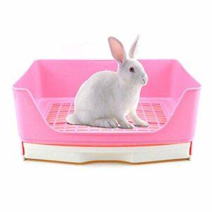 Tfwadmx Bac à litière pour lapin, grande taille pour petit animal