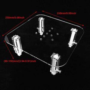 XiangXin Accessoires de séparateur de protéines durables, Support d'écumeur de protéines en Option de 3 Tailles, Acrylique Durable pour(Large Egg Skimmer Stand)