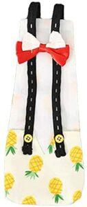 XIAOER Couches de Poulet ABCD, Couches de Canard, Couches de Poulet Ajustables, lavables et réutilisables, Costumes de Poulet avec arcs (Banane, s) (Size : Small)