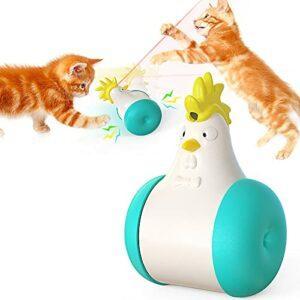 YTQ Jouet Laser Cat, Jouets Interactifs pour Chats D'intérieur Swing Cat Swing Cat Cat Toy USB Rechargeable avec Outil D'entraînement pour Chasseurs d'animaux Infrarouges(Color:Bleu Clair)