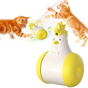 YTQ Jouet Laser Cat, Jouets Interactifs pour Chats D'intérieur Swing Cat Swing Cat Cat Toy USB Rechargeable avec Outil D'entraînement pour Chasseurs d'animaux Infrarouges(Color:Jaune)