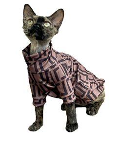ZHIHAN Vêtements de Chat Sphinx T-Shirt Fin Costume de climatisation Extensible d'été, Couleur 1, XL-