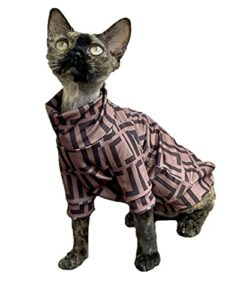 ZHIHAN Vêtements de Chat Sphinx T-Shirt Fin Costume de climatisation Extensible d'été, Couleur 1, XS