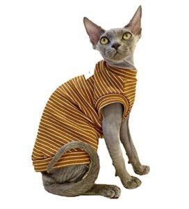 ZHIHAN Vêtements de Chat Sphinx T-Shirt Fin, Gilet, Combinaison de climatisation, Couleur 1, XXL-
