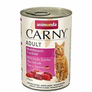 Animonda Carny Assortiment de nourriture pour chats adultes Multi viande Cocktail 6x 400g