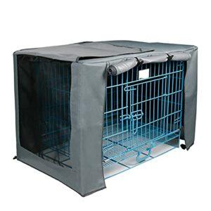 BOENTA Cages pour Chiens Durable Coupe-Vent pour Chien Cage pour Chien Cage pour Couverture pour Cages en Fil Durable Coupe-Vent pour 78x50x53cm,Gray