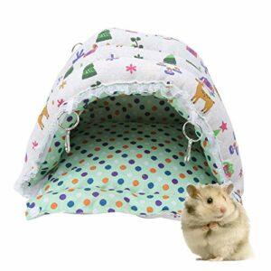 Eulbevoli Tissu en Peluche nid d'animal de Compagnie Hamster nid de Coton Formes de Dessin animé Hamster hamac d'hiver Chinchilla pour écureuil(M)