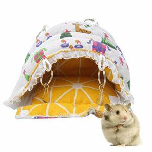 Eulbevoli Tissu en Peluche nid d'animal de Compagnie Hamster nid de Coton Formes de Dessin animé Hamster hamac d'hiver Chinchilla pour écureuil(Mini Trumpet)