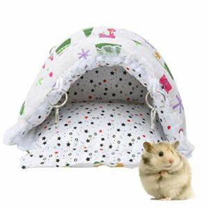 Eulbevoli Tissu en Peluche nid d'animal de Compagnie Hamster nid de Coton Formes de Dessin animé Hamster hamac d'hiver Chinchilla pour écureuil(S)