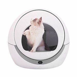 FengJ Toilette Automatique pour Chat Automatique pour Chat Bac à Sable à Induction Nettoyage Rotatif Chat Robot Litière Grand Kitty Boîte à litière Auto-nettoyante