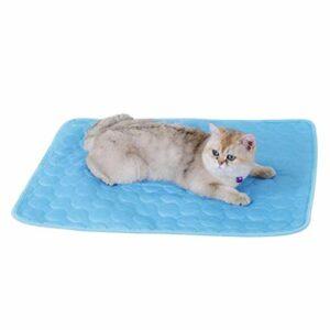 Hopowa Refroidissement Mat pour Chats Chiens, Animal familier de Refroidissement Mat Cooler Pad pour Les caisses, Les chenils et Les Lits