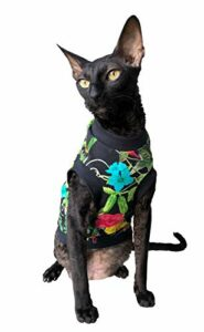 Kotomoda Hairless Cat's T-shirt en coton stretch pour chats Sphynx (S)