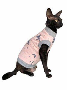 Kotomoda Sphynx Chat à col roulé Licorne Rose Nu Vêtements pour chat Sans poil (M)