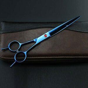 LIUCHUNYANSH Grooming Scissors for Dogs Cat Chien Ciseaux de Coupe de Cheveux Professionnel Ciseaux for Animaux Toilettage for Animaux Ciseaux Set (Color : Purple, Size : 7Inch)