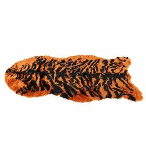 Santing Couverture Douce pour Animaux de Compagnie, Tapis pour Animaux de Compagnie respectueux de la Peau, Peluche pour Chats domestiques(Brown Tiger Skin Profile)