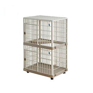 XINTONGSPP Cage pour Animaux de Compagnie, Cage à Double Couche Résine Fournitures pour Animaux de Compagnie Litière Chat avec Rouleaux Cage Pet