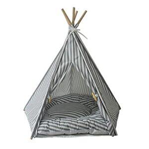 yaunli Tente de Compagnie Dog Cat Tente Teepee Dog Maison de Compagnie Cave pour Tente portative en Toile d'intérieur pour Chien de Chat Tente de Chat et de Chien Lavable