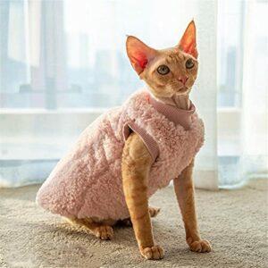 ZHIHAN Sphinx Gilet épais chaud pour chat Rose Taille XXL