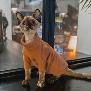 ZHIHAN Sphinx Pull chaud en velours épais pour chat Couleur de l'image Taille L +