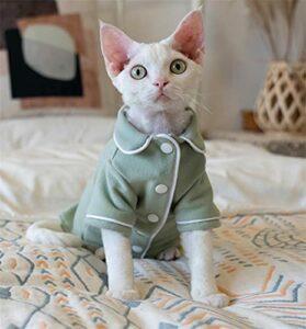 ZHIHAN Sphinx Pyjama chaud pour chat sans poils, couleur de l'image Taille L +