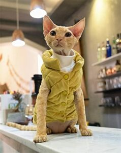 ZHIHAN Spinx Konniss Veste en coton pour chat Couleur photo Taille S