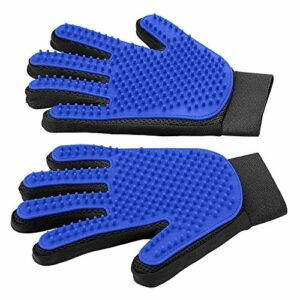 1 paire de gants de toilettage pour animaux de compagnie