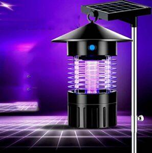 Cylficl Lampe Moustique Type de Tueur de Moustique de Choc électrique, Tueur Solaire de Moustique de ménage, Tueur de rayonnement Silencieux à Double Usage d'éclairage de LED