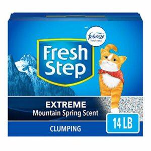 Fresh Step Litière parfumée pour chat au pouvoir de Febreze, 6,4kg