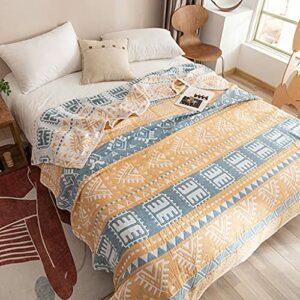 GHW Nouveau Coton de Coton de Style Coton de Coton de Coton à Trois Couches de Gaze à Trois Couches Couette légère Coton d'été climatisation Couverture canapé Couverture (Taille : 200x230cm)