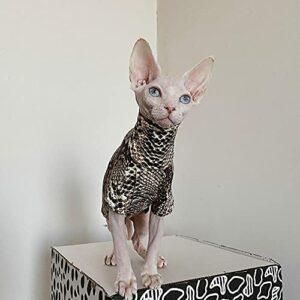 HCYD Serpentia Mao Cat Convient à Ssenx Devin Chat Vêtements Coton Spring Spring T-Shirt Automne-Chameau_XXL