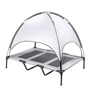 HEXLONG Tente respirante double couche renforcée avec auvent surélevé pour animal domestique – Tente portable pour le camping en intérieur et en extérieur