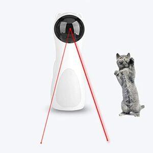 Jouet laser interactif pour chat,réglage de l'angle à cinq vitesses,trois modes vitesse,câble chargement USB/deux alimentés par batterie,utilisé l'exercice et l'entraînement des animaux compagnie