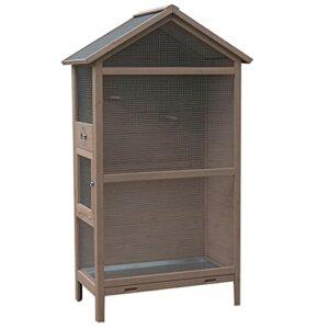 ketive Pigeons Pigeons Bird House Wooden Pet Parrot Cages avec Stand