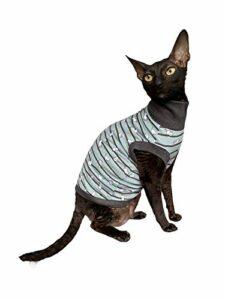 Kotomoda Sphynx Cat 's T-shirt à col roulé pour chat Vert Taille L