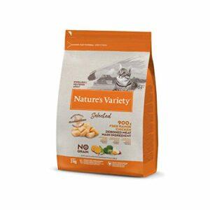 Nature's Variety Selected Croquettes pour Chat Stérilisés avec Poulet Désosté 3 kg 1 Unité