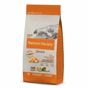 Nature's Variety Selected Croquettes pour Chat Stérilisés avec Poulet Désosté 7 kg 1 Unité