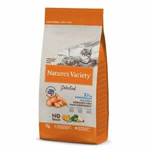 Nature's Variety Selected Croquettes pour Chat Stérilisés avec Saumon Norvégien sans Épines 7 kg 1 Unité
